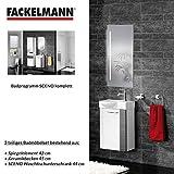 Fackelmann Badmöbel Set Sceno Gäste WC 3-tlg. 45 cm Anthrazit Weiß mit Waschbecken Unterschrank & Waschbecken & Spiegelelement