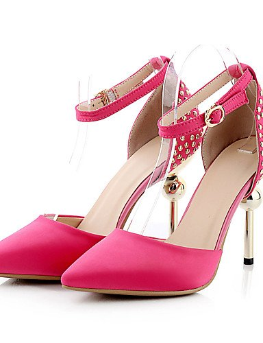 WSS 2016 Chaussures femmes satin talons printemps / été / automne / pointu orteil talons partie&soirée / robe / casual talon aiguille black-us6.5-7 / eu37 / uk4.5-5 / cn37