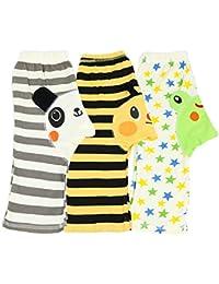 Dotty Fish - Leggings de algodón para bebés y niños pequeños - Pack de 3 - Boys & Girls Diseños de animales coloridos - Pequeños, medianos y grandes