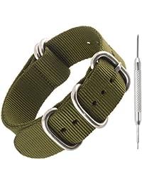 Bracelet montre NATO en nylon résistant par Sniper Bay Bracelets style militaire pour plongeurs 18mm 20mm 22mm