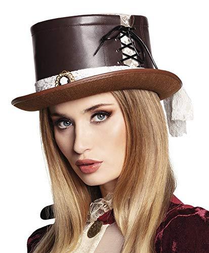 TH-MP Edler Steampunk Zylinder Hut für Damen viktorianischer Retro Look Kostüm - Viktorianischer Hut Kostüm