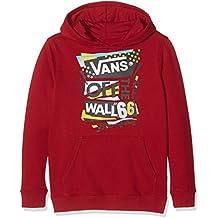 Vans Stenciled II de los niños suéter, Niños, Stenciled II Pullover, Red Dahlia, small