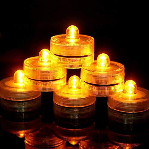 WangZJ luz vela LED/luz pecera buceo/luz vela impermeable