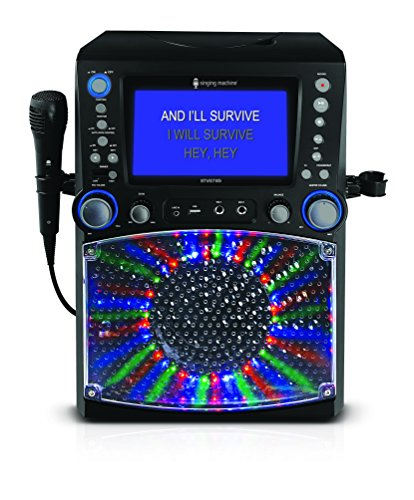 Singing Machine STVG785 Karaoke mit 3 CD+G's schwarz (Kinder Karaoke Maschine Cdg)