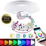 SmartHitech LED Smart Music, Lámpara de Techo con Altavoz Bluetooth, 60W RGB...