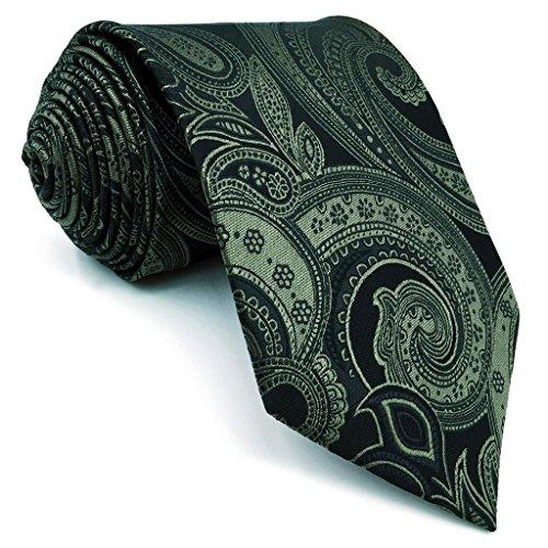 Shlax&Wing Herren Seide Krawatte Mode Grün Geometrisch Blumen Extra lang 63