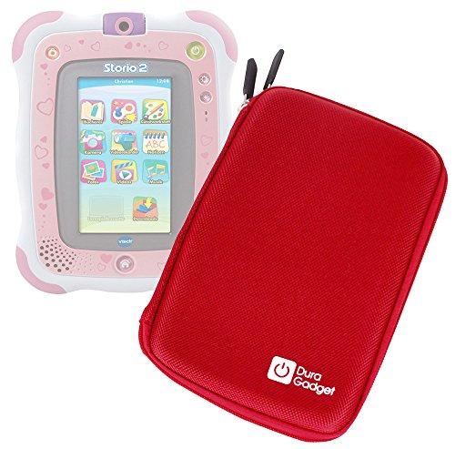 DURAGADGET Funda Rígida Rojo Compatible Con La Tablet Vtech Storio 2 / Storio 2 + Juego De Rufus - Con Cierre De Cremallera