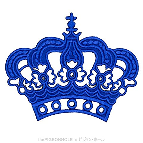 [ Hooah! Oorah! Hooyah! ] Navy Royal Crown - Clip Art Iron On, Sew On Embroidered Patch - Gift, Travel Souvenir, Collectible, Décor