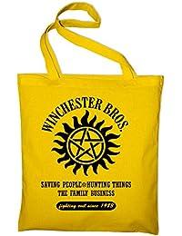 Winchester Bros Family Fan Jutebeutel, Beutel, Stoffbeutel, Baumwolltasche