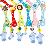 A-SZCXTOP 6PCS Coloured Wooden Hangers Baby kids Childrens Wood Coat Clothes Cartoon Hangers with Hooks