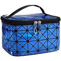 jakerbing nette impermeable Make Up de bolsillo PU de caja (Azul)