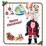 CRSURE Rentier Kostüm für Weihnachten, einfach zu tragen und zu Gehen, für Rentier-Maskottchen, Fancy Reiten auf Rentier Schultern Unisex Erwachsene.