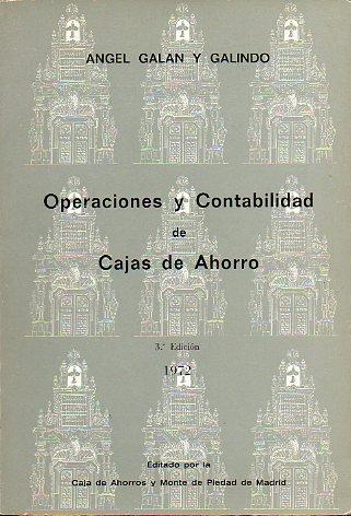 OPERACIONES Y CONTABILIDAD DE CAJAS DE AHORRO. 3ª ed.