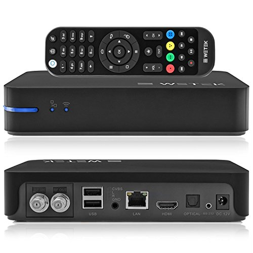 WeTek Play 2 - El reproductor multimedia híbrido con Android y sintonizador de TV integrado, imagen 4K Ultra HD, Som certificado DTS, Box IPTV / OTT 2 GB DDR3 H265 (DVB-S2)