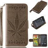BONROY® HTC Desire 530 Hülle ,Maple Leaf Prägemuster
