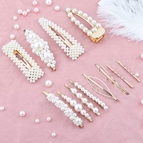 Pince à Cheveux Perle-12 PCS Pin...