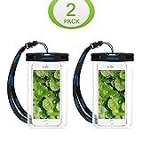 Mpow 2 Stück Wasserdichte Hülle,Staubdichte,Stoßfeste, Schneeschutzanlage Beutel Tasche für iPhone SE/ 6s / Plus / 6 / 5s / 5 / 5C,Galaxy S7,Huawei P8 usw bis zu 6 Zoll