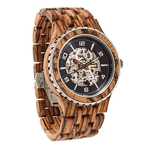 Wilds Herren Holz Uhren Analog Automatik Uhrwerk mit Sonstige Materialien Armband, Revolution