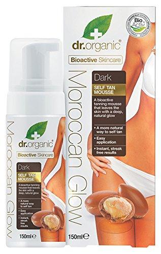 Dr organic moroccan glow mousse autoabbronzante intensa - 150 ml