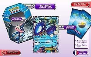 La BOX Attaque Eclair KYOGRE EX 54/160 180PV XY05 + 2 booster optimisés de 10 cartes Francaises