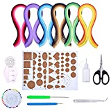 Papier Quilling Set Verschiedene Farben mit 9 Quilling Werkzeuge and 30 Farben 600 Streifen Quilling Papier