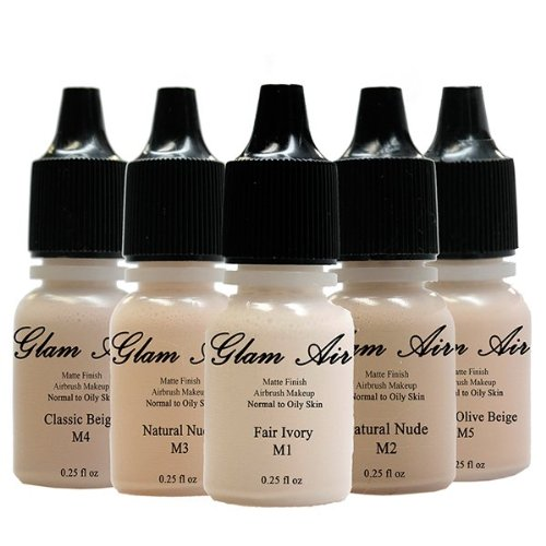Glam Air Airbrush M3 Natural Nude Matte Foundation Water-based Makeup (997) (Ideal For Normal to Oily Skin)
