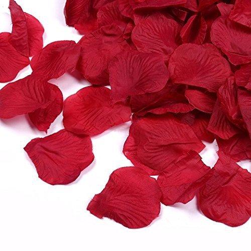 Schramm Onlinehandel S/O® 500er Pack Rosenblätter Rosenblüten Bordeaux Rosen Blätter Blüten Kunstblumen Seidenblumen