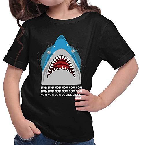 Kinder Hungrige Kostüm - HARIZ Mädchen T-Shirt Hungriger Hai Tiere Zoo Plus Geschenkkarten Schwarz 164/14-15 Jahre