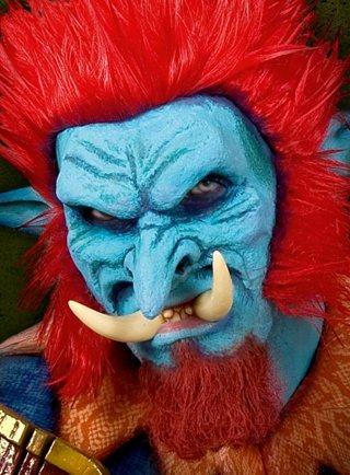 Kostüm Halloween Troll Halbmaske (Erwachsenen Troll Kostüm)