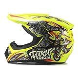 Qianliuk Casco da Moto per Adulti Motocross Casco ATV Bici Downhill Racing Casco Cross