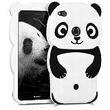 kwmobile Funda para Huawei P8 Lite (2017) - Carcasa Protectora de [Silicona] y diseño de Panda - Cover [Trasero] de móvil