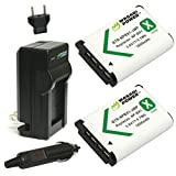 Wasabi Power Battery (2-Pack) and Charger for Sony NP-BX1 NP-BX1/M8 and Sony Cyber-shot DSC-HX50V DSC-HX300 DSC-RX1 DSC-RX1R DSC-RX100 DSC-RX100 II DSC-RX100M II DSC-WX300 HDR-AS10 HDR-AS15 HDR-AS30V HDR-AS100V HDR-AS100VR HDR-CX240 HDR-MV1 HDR-PJ275