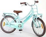 .Volare Bicicleta Niña Excellent 18 Pulgadas Freno Delantero al Manillar y Trasero Contropedal Portabultos Azul 95% Montado