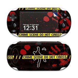 Sony PS Vita Skin – Gehäuse Schutzfolie Design Vinyl Aufkleber Sticker + Wallpaper – Crime Black