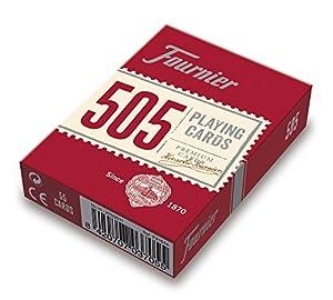 Fournier- Nº 505 Baraja Cartas Poker Clásica, Color Rojo o Azul (F21644)
