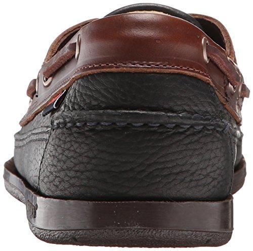 Sebago Men's Schooner Boat Shoe, Black/Brown, 10 M US Black/brown