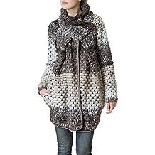 CASPAR MTL007 Manteau en laine pour femme - gilet épais pour l hiver -  plusieurs 8f096597c01e