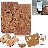 K-S-Trade Schutz Hülle für Energizer Powermax P600S Handyhülle Kork Handy Tasche Korkhülle Schutzhülle Handytasche Wallet Case Walletcase Flip Cover Smartphone