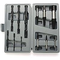 Juego de extractores de tornillos, 12 piezas HSS tornillo extractor de tornillo, herramienta de extracción de rosca inversa, fácil de sacar, 3 – 25 mm