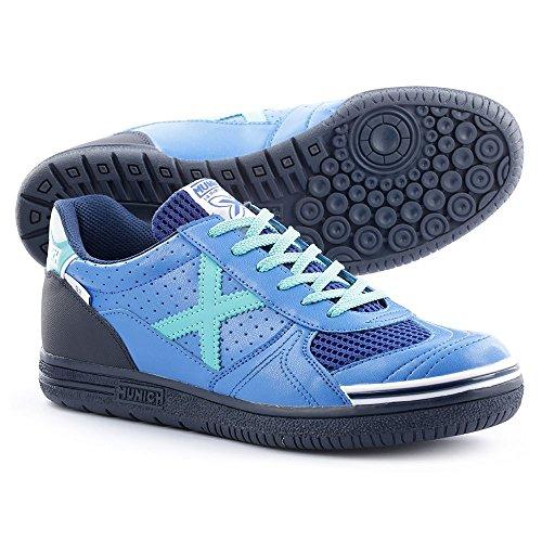 Munich G 3 Classic - Zapatillas unisex, color azul / negro / celeste, talla 40