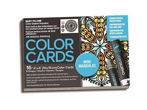Chameleon 16-teiliges 10,2x 15,2cm Mandala Farbe Karten