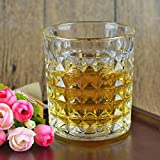 Best Scotch Glasses - King International Crystal Diamond Cut Straight Whiskey Glasses| Review