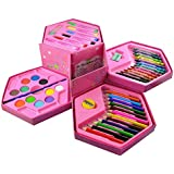 Parteet Colors Box Color Pencil ,Crayons , Water Color, Sketch Pens Set Of 46 Pieces (Color & Design For Kids)
