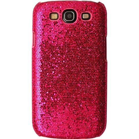 TechDealsUK cromo lucido e glitter Custodia Cover posteriore per Samsung Galaxy S3 i9300 - Magenta