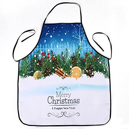 Lqchl 1Pcs 70*80Cm Décoration De Noël Tablier Imperméable En Polyester Pour Le Dîner De Noël Cuisine Tablier Partie Décoration,C