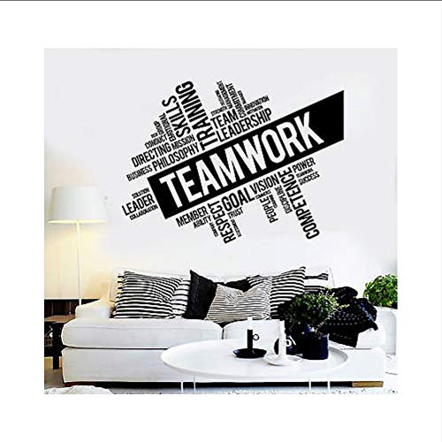 Lglays Vinyl Wandtattoo Inspirational Teamwork Erfolg Büro Wand Dekor Arbeiter Aufkleber Einzigartige Diy Design78 * 56 Cm