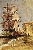 Das Museum Outlet–Venezianischen Segeln Schiff, 1878, gespannte Leinwand Galerie verpackt. 29,7x 41,9cm