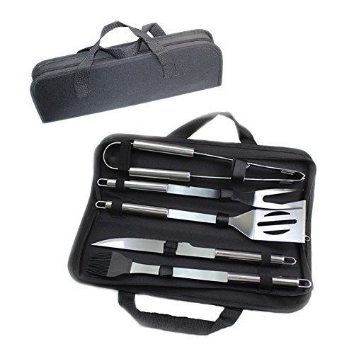 Juego de herramientas para parrillas para barbacoa, kit de herramientas para parrillas MFEI Kit de accesorios para exteriores en estuche de almacenamiento - Regalo perfecto para Navidad