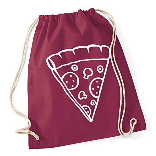HippoWarehouse Pizza Illustration Drawstring Cotton School Gym Kid Bag Sack 37cm x 46cm, 12 litres
