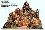 artigianale Presepe presepio Napoletano diPNando Forno, ruscello Mulino 68x55x60
